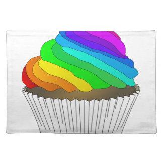 Chocolate Rainbow Cupcake Placemat