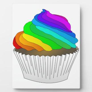 Chocolate Rainbow Cupcake Plaque