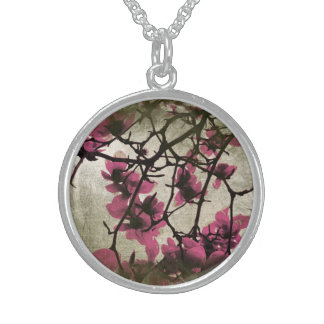 Chocolate Raspberry Blossoms Necklace