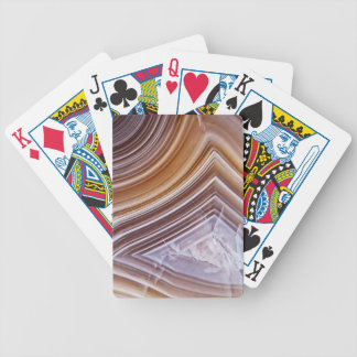 Chocolate Ribbons Agate Bicycle Playing Cards