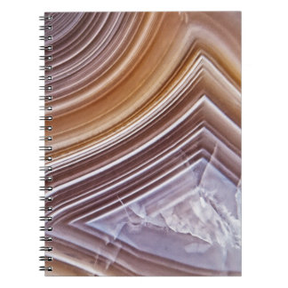 Chocolate Ribbons Agate Notebook