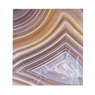 Chocolate Ribbons Agate Notepad