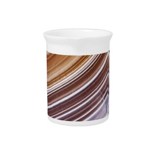 Chocolate Ribbons Agate Pitcher
