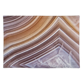 Chocolate Ribbons Agate Placemat