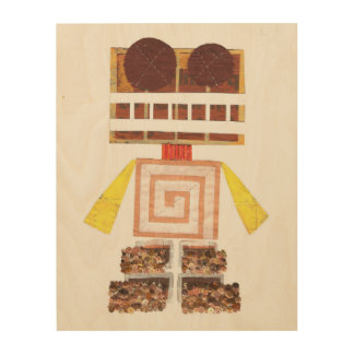 Chocolate Robot Wooden Canvas Wood Prints