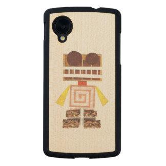 Chocolate Robot Wooden Google Nexus 5 Case Carved® Maple Nexus 5 Slim Case