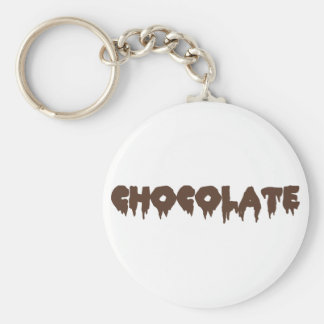 Chocolate - Rocky Horror Style Basic Round Button Key Ring