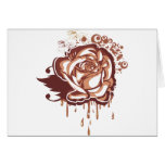 Chocolate rose greeting card