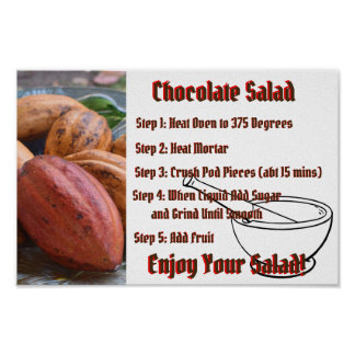 Chocolate Salad Recipe Sign