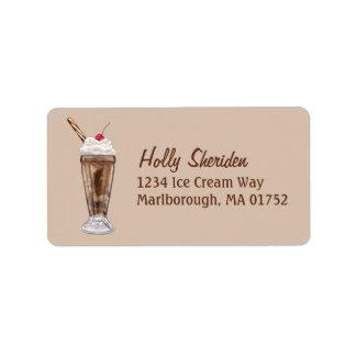 Chocolate Shake Label