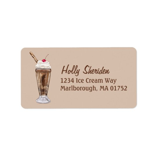 Chocolate Shake Label