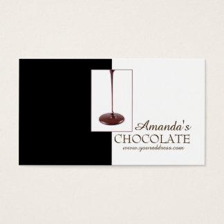 Chocolate Shop Chocolatier Black White Sweets Card
