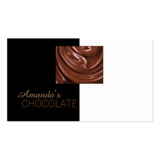 Chocolate Shop Chocolatier Black White Sweets Card Pack Of Standard Business Cards