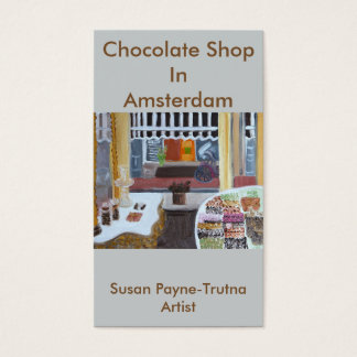 Chocolate Shop in Amsterdam Business Card