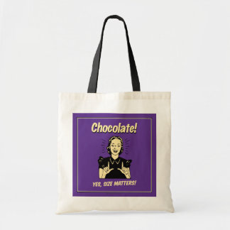 Chocolate: Size Matters Budget Tote Bag