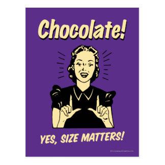 Chocolate: Size Matters Postcard