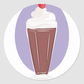 Chocolate Soda Classic Round Sticker