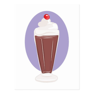 Chocolate Soda Postcard