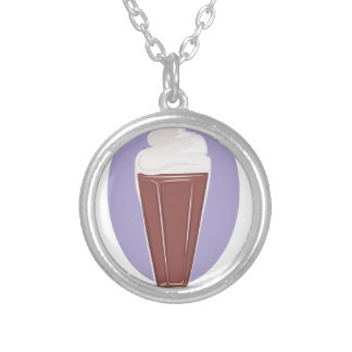 Chocolate Soda Silver Plated Necklace