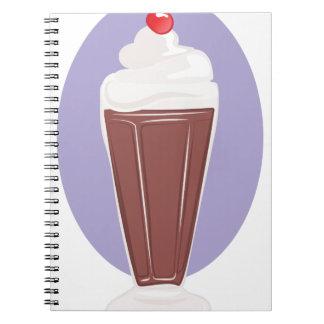 Chocolate Soda Spiral Note Book
