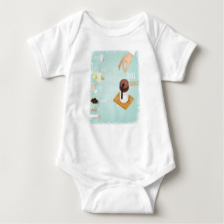 Chocolate Soufflé Day - Appreciation Day Baby Bodysuit
