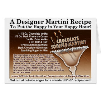Chocolate Souffle Martini Recipe Card