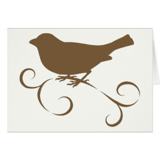 Chocolate Sparrow with Ribbon Card