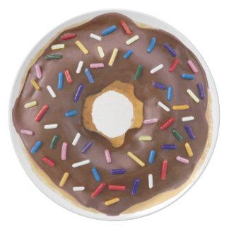 Chocolate Sprinkle Doughnut Plate