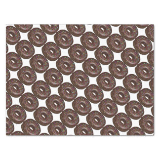 Chocolate sprinkled donut tissue paper