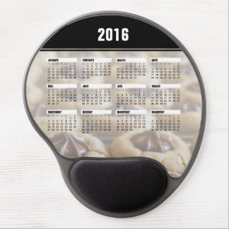 Chocolate Star Cookies Calendar 2016 Gel Mouse Pad