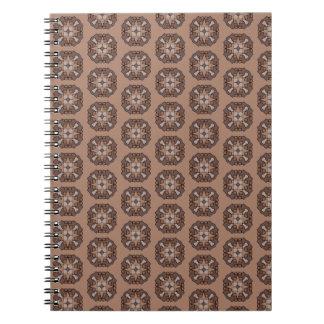 Chocolate Star Spiral Notebook