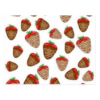 Chocolate strawberies postcard