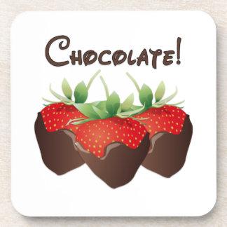 Chocolate Strawberry Beverage Coasters