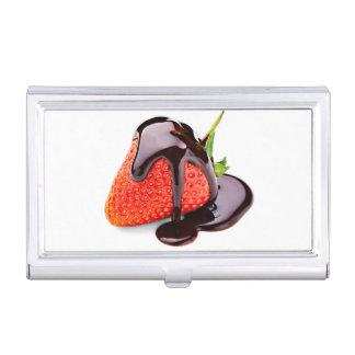 Chocolate Strawberry Business Card Holders