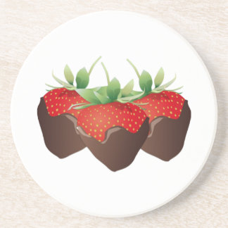 Chocolate Strawberry Drink Coasters