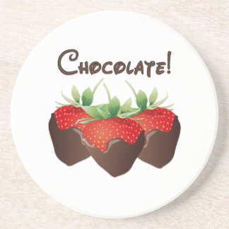 Chocolate Strawberry Coasters