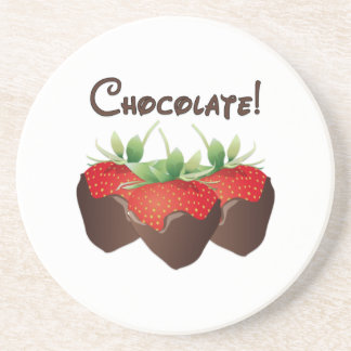 Chocolate Strawberry Beverage Coasters