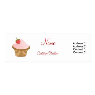 Chocolate Strawberry Cupcake Business Cards