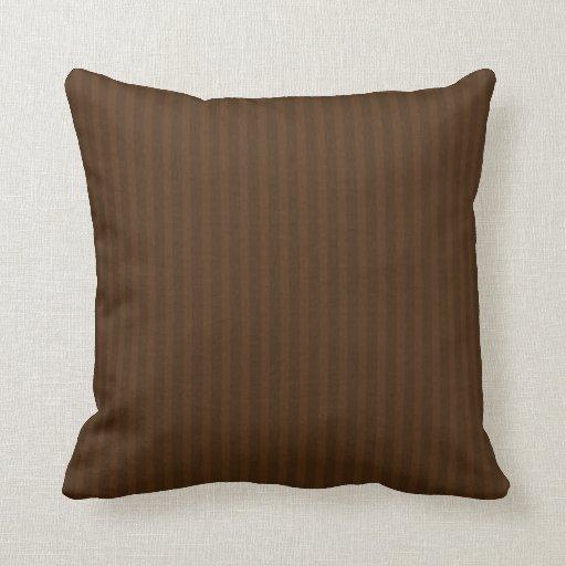 Chocolate Stripes American MOJO Pillow