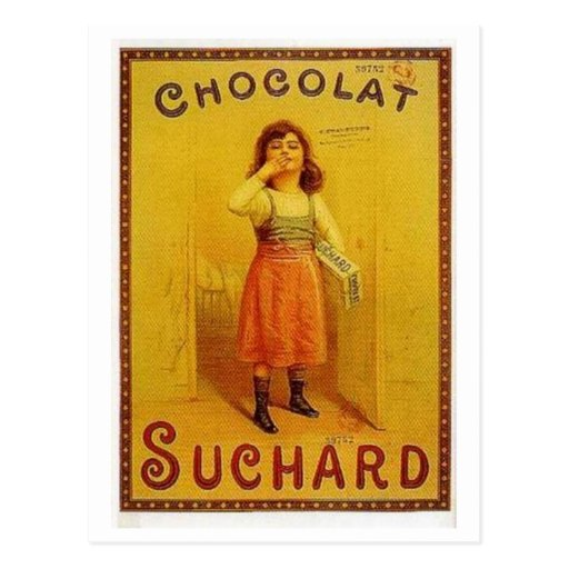 Chocolate Suchard Vintage Ad Postcard