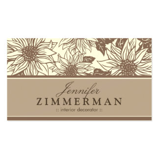 Chocolate Sunflowers Floral Business Card