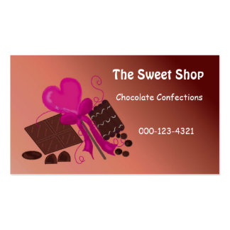 Chocolate Sweet Shop Pack Of Standard Business Cards