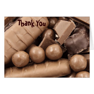 Chocolate Thank You Note Card