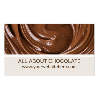 Chocolate Theme Pack Of Standard Business Cards