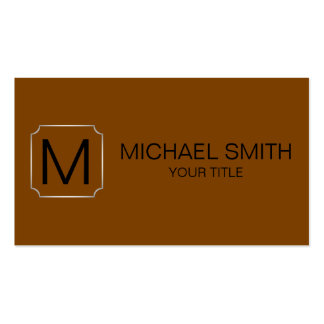 Chocolate (traditional) color background Double-Sided standard business cards (Pack of 100)