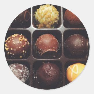 Chocolate Truffle Photo Classic Round Sticker