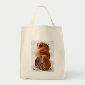 Chocolate Truffles Photo with French text Tote Bag