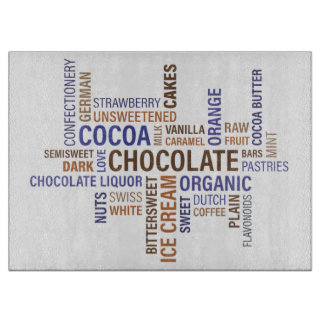 Chocolate Typography Cutting Board