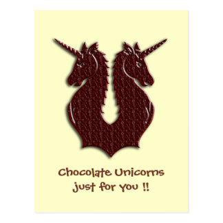 Chocolate Unicorns postcard