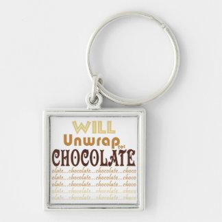 Chocolate Unwrap Key Ring